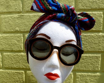 """The Original """"Doo-Rag"""". Channel your inner Rosie the Riveter! Shaped headscarf/turban for your vintage hairdos! 1940's, 50's style!"""