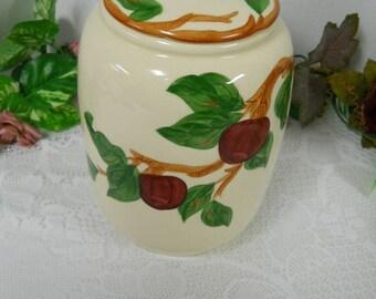 Franciscan Cookie Jar Apples & Cheeries Design....EUC! Beautiful.
