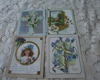Vintage Religious Prayer Cards (4)