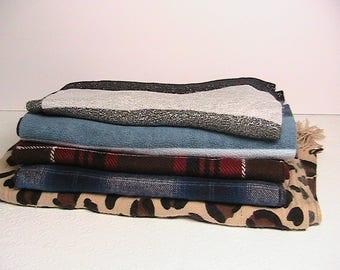 Neck Scarves, Set of Soft Neck Scarves, Assorted Colors Set of 5
