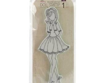 Julie Nutting Prima DoLL Cling Stamp - BOLERO JACKET STEFFI Doll - 910174 cc02