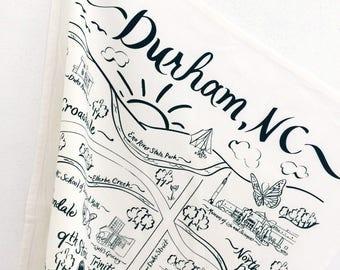 Durham Map Tea Towel