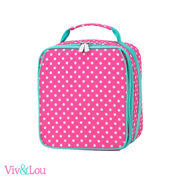 dottie pink lunch box girls lunch bag monogrammed lunch bag personalized lunch bag kids lunch box back to school personalized lunch