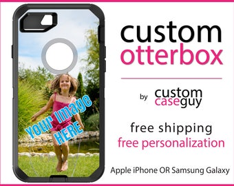 YOUR PHOTO OtterBox Defender / Apple iPhone OR Samsung Galaxy / Any Image or Design / Custom Personalized Monogrammed / Any Color / Any Font