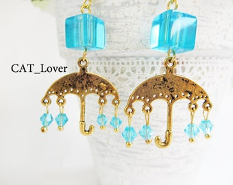 Earrings umbrella rain Rainy Day Earrings Rain umbrella earrings everyday