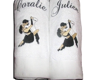 embroidery on towel