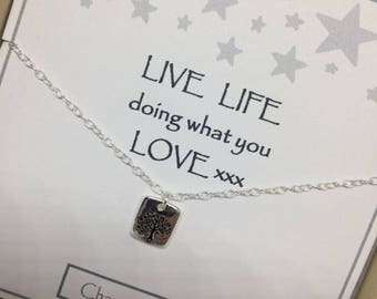 Sterling Silver Tree of Life Charm Necklace - a perfect gift with a perfect message