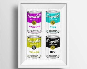 Campbell's soup Pop Art print, Campbell soup art print