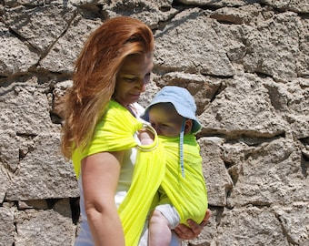 Sale! Water Sling/Affordable Mesh Sling/Summer Holiday Sling/Baby Carrier/Summer Baby Sling/Ring sling/Yellow sling/ affordable