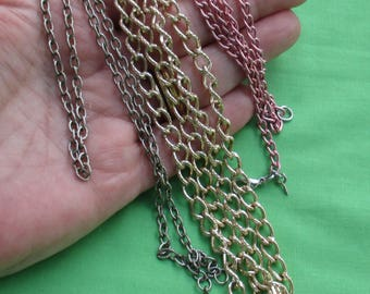 Lot Of Retro Chain Necklaces Aluminum & Metal