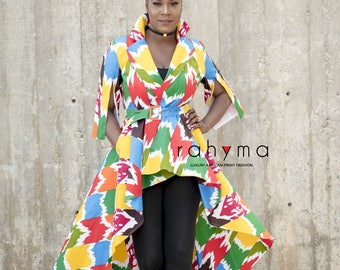 Rahyma Multi-colored High low Dress Jacket