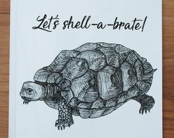 Let's shell-a-brate congratulations/well done card