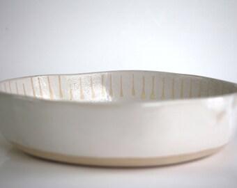 Large ceramic bowl, handmade