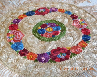 Lovely hand embroidered floral from Spain.