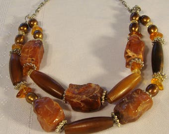 Carnelian necklace.