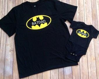 Father Son shirts - Father Daughter shirts - Batman - Batdad - Batbaby