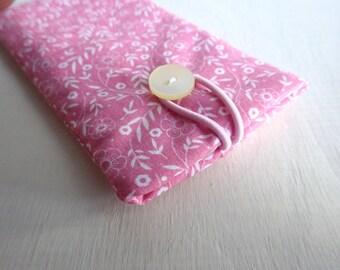 Lila Polka dots - Handytasche Handyhülle Handytäschchen Rose Trachten Iphone 7 plus Samsung Galaxy S7