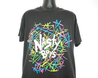 1993 Nasty Boys Vintage Gettin' Nasty Baby! WCW Classic 90's World Championship Wrestling Hardcore Tag Team Promo T-Shirt