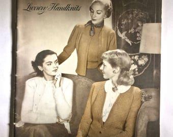 Vintage Bernat Handicrafter Luxury Handknits Magazine Vol.XVII No.1