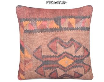brown pillow brown pillow cover brown pillow case brown cushion cover brown throw pillow brown decorative pillow brown kilim pillow 11-40