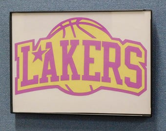 Los Angeles Lakers Wall Art Hand Made