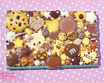Kawaii Chocolates and Cookies   Business or Credit Card Holder Case by Dolly House