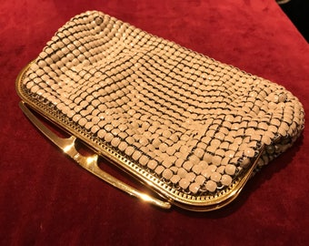 Vintage 1970s Glomesh Chainmail Clutch Evening Bag Purse
