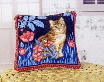 Handmade, Barbie pillow, miniature pillow, cat pillow, doll pillow, throw pillow, Blythe pillow, Bratz pillow, doll accessories