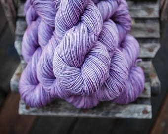 Meadow Targhee and Silk Worsted Hand Dyed Yarn