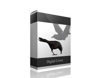 Digital Crows PNG Overlays