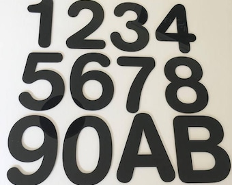 Rounded Font, Flat Finish, House/Shop/office Names and Numbers - Several Colours and Sizes