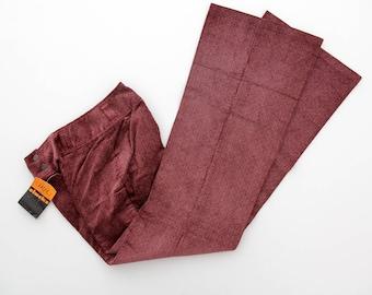 Vintage Pants // 1970s Men's Red and White Cords // Iril Slacks of Switzerland