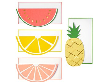 Fruit Note Card Set (Set of 12) 4 Designs
