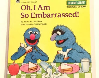 Oh I am so embarrassed! A golden book Sesame Street growing up book hardcover