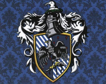 NEW Ravenclaw Crest: Harry Potter fabric print
