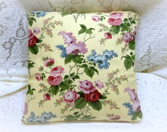 Shabby Chic Vintage Waverly Olivia English Cottage Pillow Slipcover in Yellow