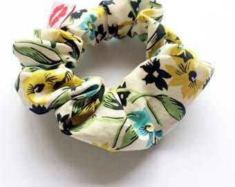 Lucy and Mabs Modern Scrunchie/ Hair Tie/Vintage Flora