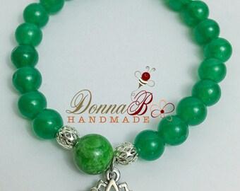 Green Aventurine Bracelet Beaded Bracelet Boho Bracelet Yoga Bracelet Mala Bracelet Stretch Chakra Bracelet Meditation Yoga Bracelet