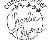 Custom Order for Kylee