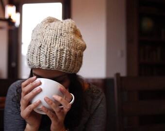 Chunky Knit Hat l Ski Hat l Winter Hat l RUNAWAY in Oatmeal