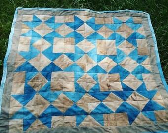 Indigo//Sumac//Walnut Naturally Dyed Quilt