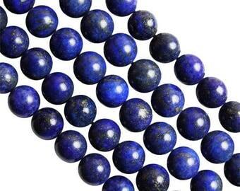 10 x 6mm Lapis Lazuli round beads