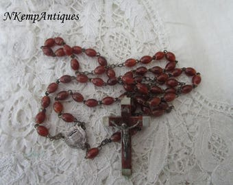 Vintage rosary beads French