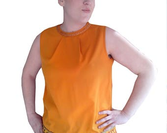 Yellow-orange sleeveless tunic