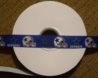 "Dallas Cowboys 7/8"" Grosgrain Ribbon"