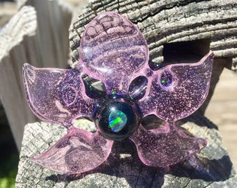 Crushed opal flower pendant
