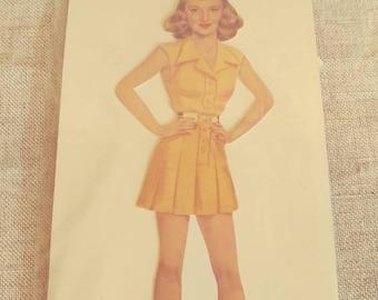 Vintage Bette Davis Paper Doll