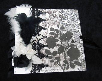 """Album, Photo Album, Journal Album, Mini Wedding Album 8""""X8""""  Handmade Album"""