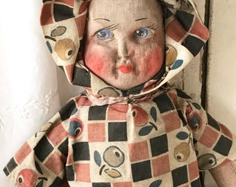 A lovely Norah Wellings possibly Chad Valley cloth doll