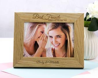 Best Friends Photo Frame - Personalised Best Friends Frame - Gift For Best Friend - Oak Picture Frame - Photo Frame - Picture Frame - LC212